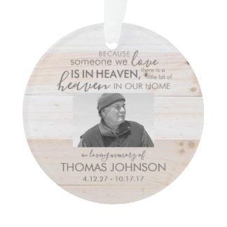 Someone In Heaven Acrylic Photo Ornament
