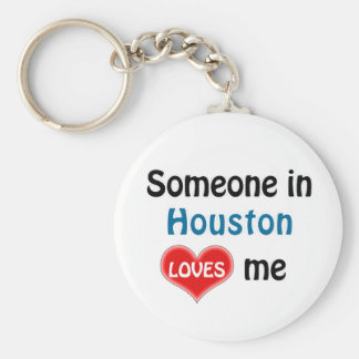 Someone in Houston Loves me Keychain