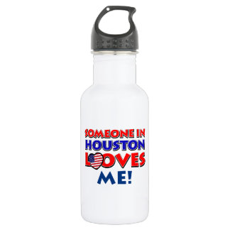 Someone in HOUSTON loves me Water Bottle