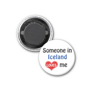 Someone in Iceland loves me Magnet