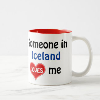 Someone in Iceland loves me Two-Tone Coffee Mug