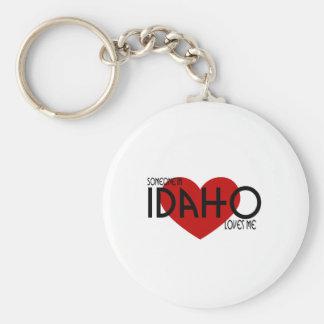 Someone in Idaho Loves Me Basic Round Button Keychain