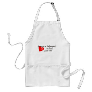 Someone in Indianapolis Loves Me Adult Apron