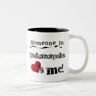 Someone in Indianapolis Two-Tone Coffee Mug