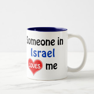 Someone in Israel loves me Two-Tone Coffee Mug