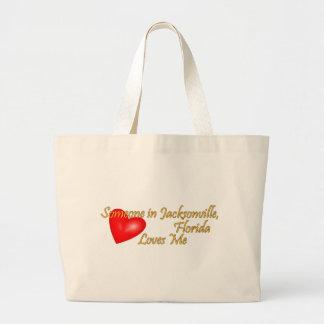 Someone in Jacksonville Florida Loves Me Jumbo Tote Bag