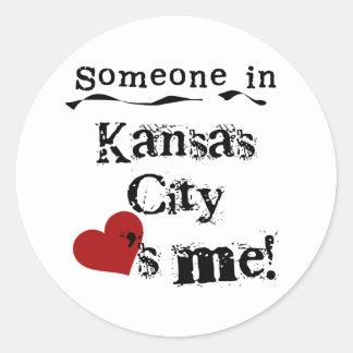 Someone in Kansas City Classic Round Sticker