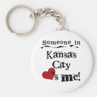 Someone in Kansas City Basic Round Button Keychain