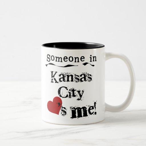 Someone in Kansas City Two-Tone Coffee Mug