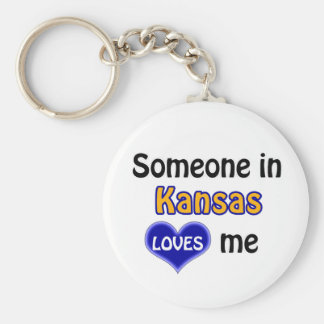 Someone in Kansas Loves me Keychain