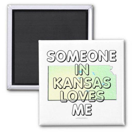Someone in Kansas loves me Refrigerator Magnet