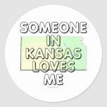 Someone in Kansas loves me Stickers
