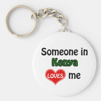 Someone in Kenya Loves me Basic Round Button Keychain