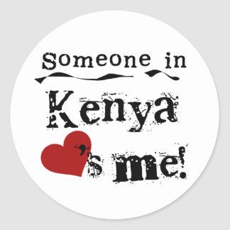 Someone In Kenya Loves Me Classic Round Sticker