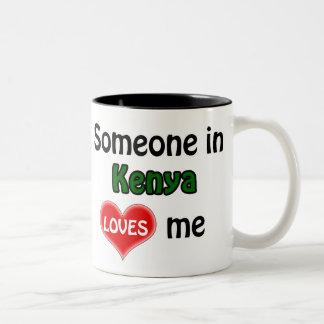 Someone in Kenya loves me Two-Tone Coffee Mug