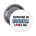 Someone in Korea Loves me Pinback Button
