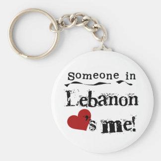 Someone In Lebanon Loves Me Keychain