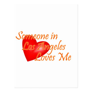 Someone in Los Angeles Loves Me Postcard