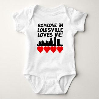 Someone In Louisville Kentucky Loves Me Baby Bodysuit