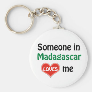 Someone in Madagascar Loves me Keychain