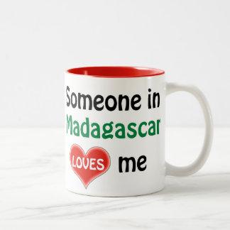 Someone in Madagascar loves me Two-Tone Coffee Mug