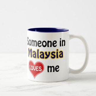 Someone in Malaysia loves me Two-Tone Coffee Mug