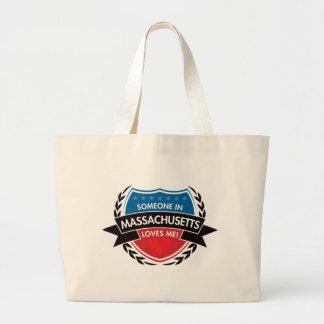 Someone In Massachusetts Loves Me Jumbo Tote Bag