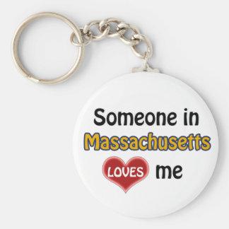 Someone in Massachusetts Loves me Keychain