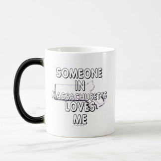Someone in Massachusetts loves me 11 Oz Magic Heat Color-Changing Coffee Mug