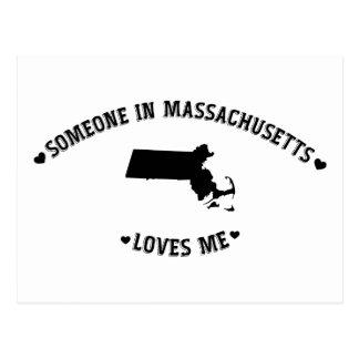 Someone in Massachusetts Loves Me Postcard