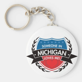 Someone In Michigan Loves Me Key Chains