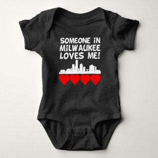 Someone In Milwaukee Wisconsin Loves Me Baby Bodysuit