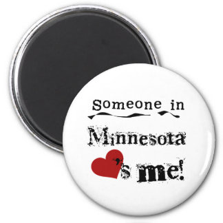 Someone In Minnesota Loves Me 2 Inch Round Magnet