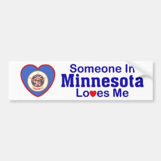 Someone In Minnesota Loves Me Bumper Sticker
