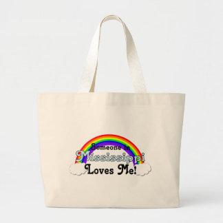 Someone in Mississippi Loves Me Large Tote Bag