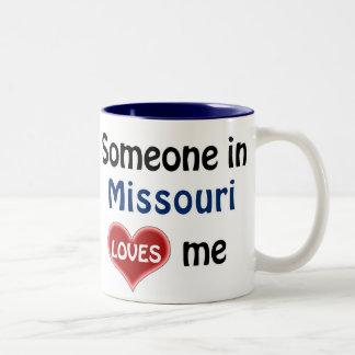 Someone in Missouri loves me Two-Tone Coffee Mug