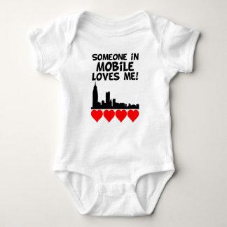 Someone In Mobile Alabama Loves Me Baby Bodysuit