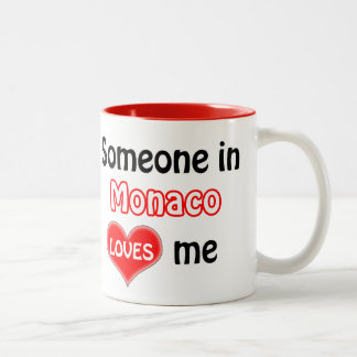 Someone in Monaco loves me Two-Tone Coffee Mug