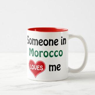 Someone in Morocco loves me Two-Tone Coffee Mug