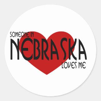 Someone In Nebraska Loves Me Classic Round Sticker