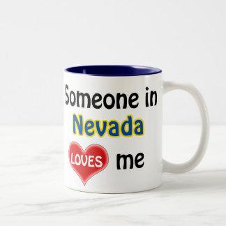 Someone in Nevada loves me Two-Tone Coffee Mug