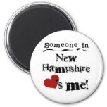 Someone In New Hampshire Loves Me 2 Inch Round Magnet