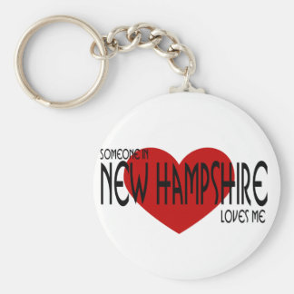 Someone in New Hampshire Loves Me! Keychain