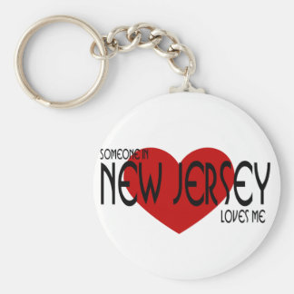 Someone in New Jersey Loves Me Basic Round Button Keychain