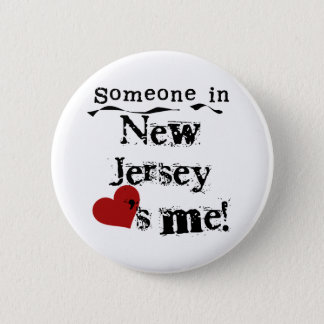 Someone In New Jersey Loves Me Pinback Button