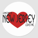 Someone in New Jersey Loves Me Stickers