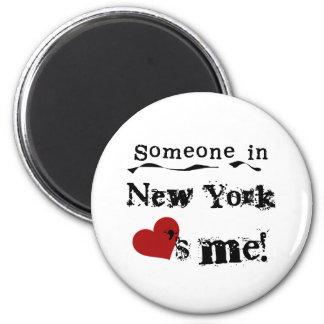 Someone In New York Loves Me 2 Inch Round Magnet