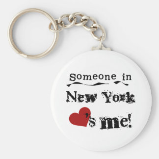 Someone In New York Loves Me Keychain