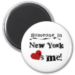 Someone In New York Loves Me Refrigerator Magnets