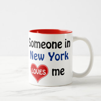 Someone in New York loves me Two-Tone Coffee Mug